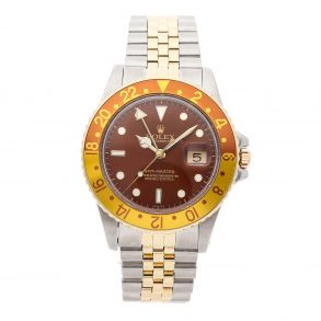 Casual Men Rolex GMT Master Rootbeer 16753 Dial Brown Mechanical Automatic