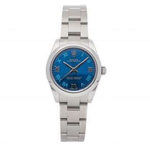 Replica Ladies Rolex Oyster Perpetual 177200 Dial Blue Mechanical Automatic