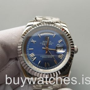 Rolex Day-Date 228239 Αυτόματο ρολόι Mens 40mm Blue 18kt White Gold