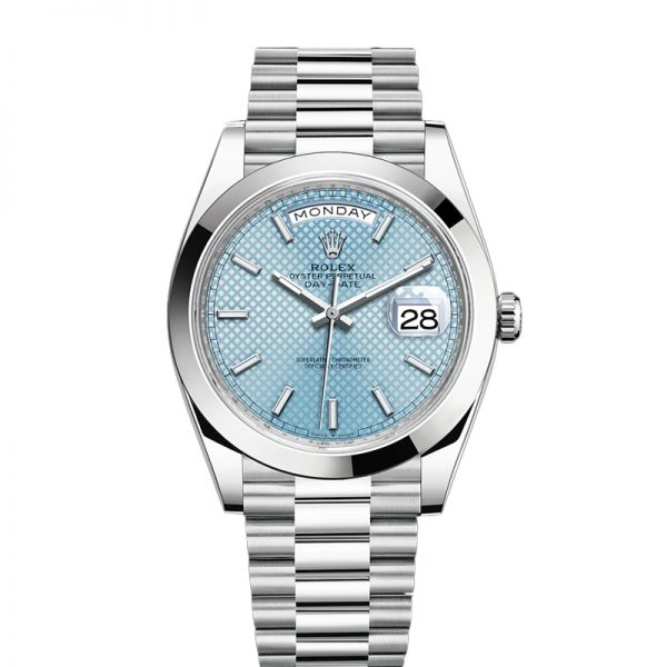 Rolex Day-Date Αυτόματο ρολόι Blue Stk Smth Men 40mm 3255